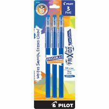 Pilot Frixion Color Sticks Erasable Gel Pens Fine Point Blue 3 Count