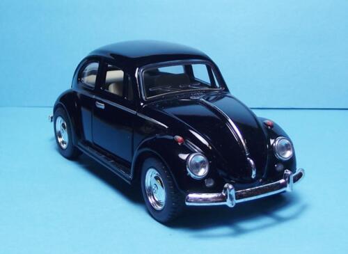 "1967 Volkswagen Classic Beetle 5/"" Die Cast w//Pull Bk Power /& Opening Drs Black 8"