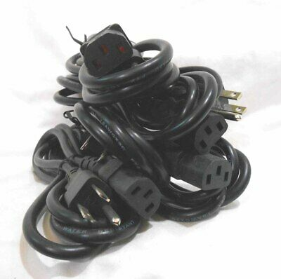 Power Cord 3-Pronged 10A 250V~ 5ft Tattoo Power Supply Cord Black