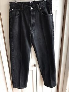 Vintage-Tommy-Jeans-Black-Denim-Jeans-Carpenter-Straight-Leg-Size-36-x-32
