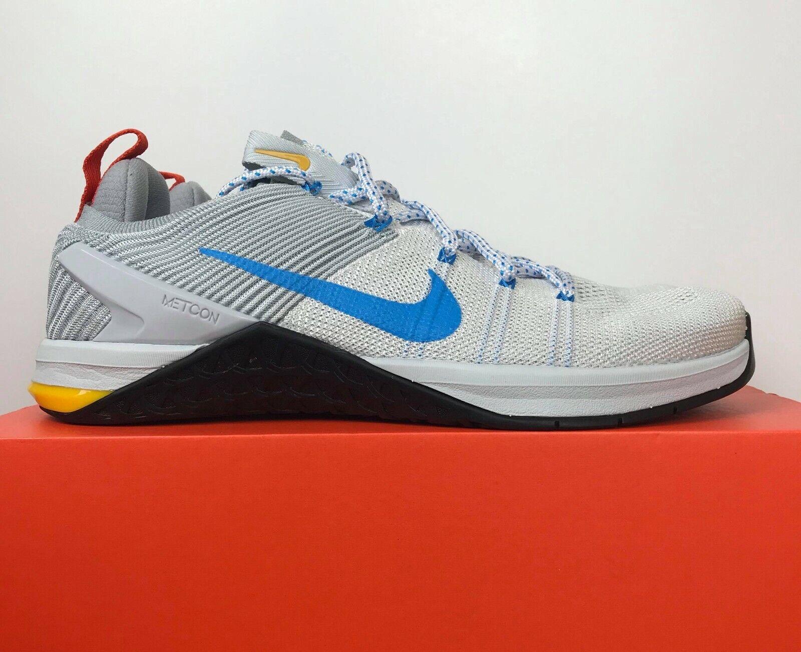 Nike Metcon DSX Flyknit 2 White bluee Platinum 924423-140 Men's Size 11