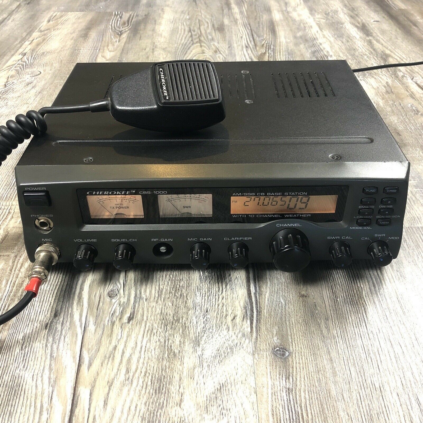 Cherokee CBS-1000 AM/SSB Base Station 40 Channel USB Radio. Available Now for 389.95