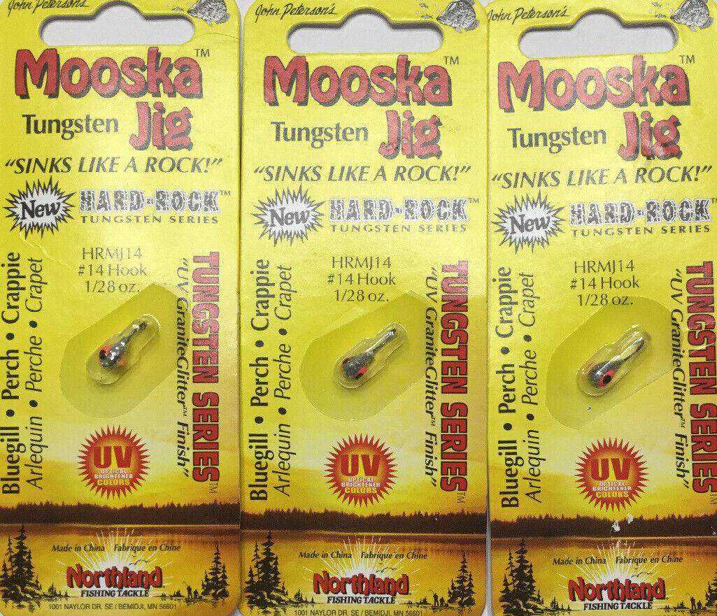 Northland Tackle Hard Rock Mooska Tungsten Jig HRMJ16-11 Silver Nugget 1//57 oz