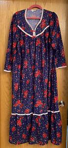 Vintage Prairie Style Flannel Night Gown Lorraine