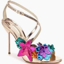 26d61230e4e item 1 Sophia Webster Hula 3D Floral-appliqué Rose Gold Leather Sandal Heel  sz 6  1065 -Sophia Webster Hula 3D Floral-appliqué Rose Gold Leather Sandal  Heel ...