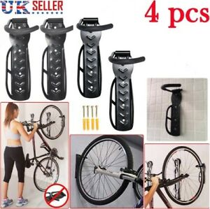 Bike Rack Hook Storage Steel Mounted Wall Hanger Hanging Stand Bicycle Holder UK