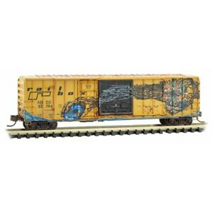 Railbox-50-039-Ribside-Box-Car-039-Gorilla-039-Weathered-Graffiti-MTL-026-53-011-N-Scale