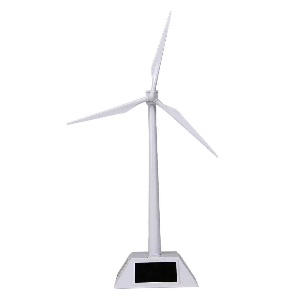 Tnfeeon Science Solar Windmill Model Delicate Solar Powered Building Model Toy Wind Turbine Early Educational Toy for Kids