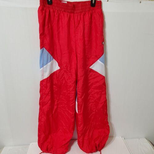 Champion Mens Parachute Windbreaker Track RED Pant