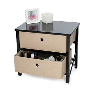 Roamwild-2-Drawer-Bedside-Table-Night-Stand-Bedroom-Furniture-Storage-Side-Table