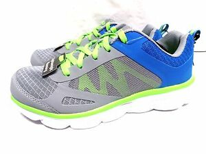 Athletic Works Boy's  Running Shoes - Breathable Mesh - Gray / Blue
