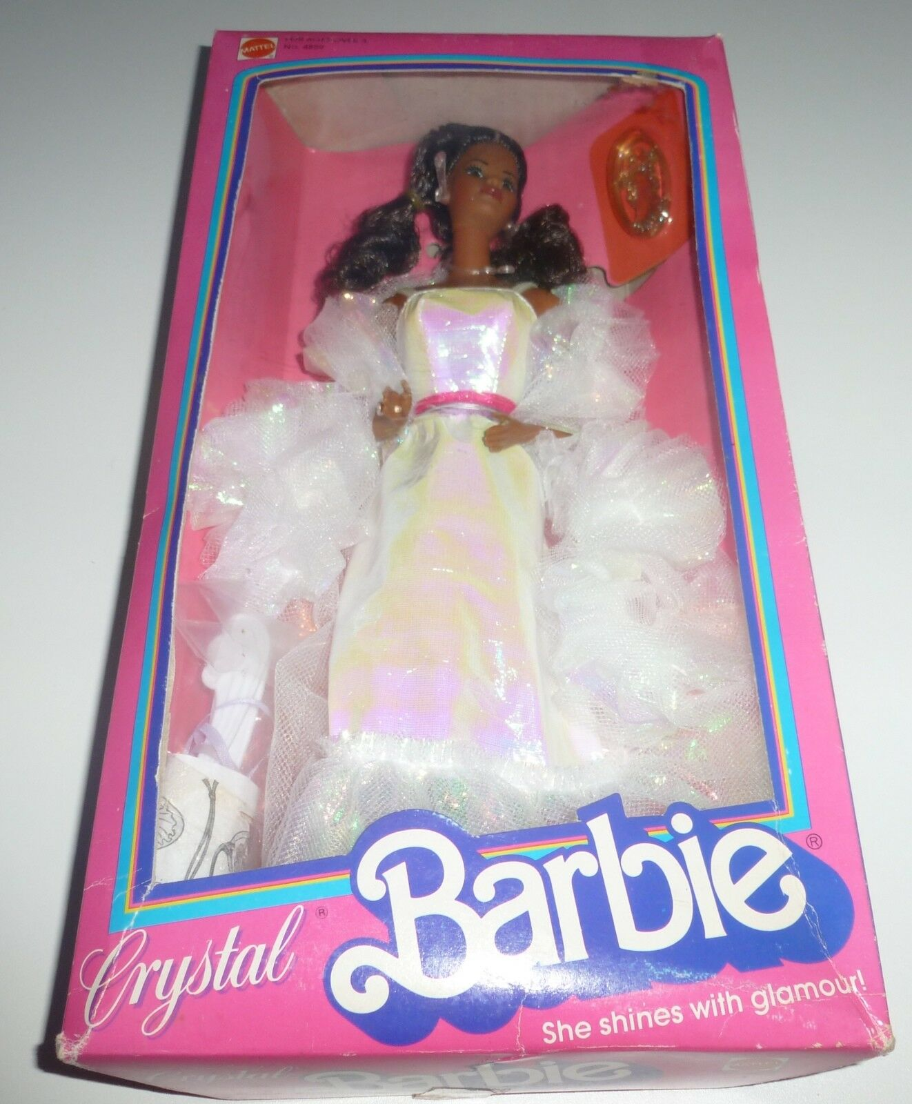 AA RARE VINTAGE 1983 Crystal Barbie doll Nuovo di zecca con scatola.