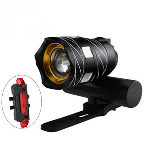 LED USB Wiederaufladbare Fahrradlampe Fahrradlicht Set Beleuchtung Scheinwerfer