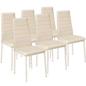 Set di 6 sedia per sala da pranzo tavolo cucina eleganti moderne robusto beige n
