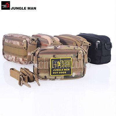 JUNGLE MAN TACTICAL OUTDOOR PORTABLE SHOULDER BAG WAIST MESS POUCH MULTI COLORS