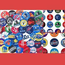 100 Precut assorted NBA All BASKETBALL Teams BOTTLE CAP IMAGES 1 inch discs