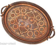 antik Massiv Kupfer islamic orient tablett Teetisch Afghanistan teatray  -M