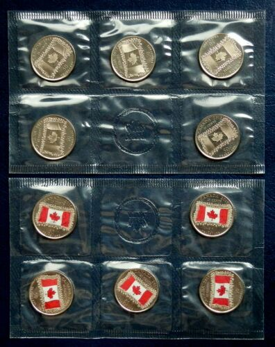 "2015 Canada /""FLAG/"" 5 colored /& 5 plain 2 x 5-Packs in Original RCM Envelope"