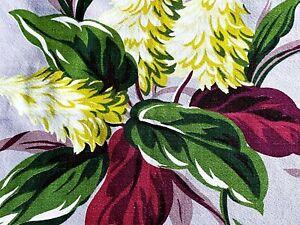 SALE-Tropical-Miami-Pillow-Case-Barkcloth-Vintage-Fabric-30-039-s-South-Beach-DIY