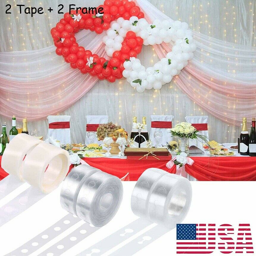 100 Dots Adhesive Tape Double Sided Glue Dots Sticker DIY Balloon Party HOT SALE