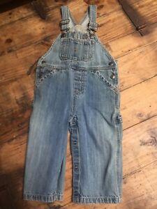 708dbced609a Gap Denim Overalls Size 12 18 Months Toddler jeans pants Light Wash ...