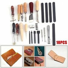 Vintage Leather Craft Tools Kit Stitching Sewing Beveler Punch Working Hand Tool
