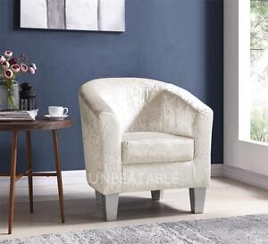 Designer-Crushed-Velvet-Tub-Chair-Armchair-Office-Living-Dining-Room