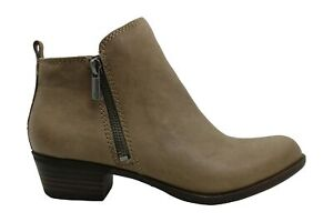 Lucky Brand Womens Basel Leather Almond Toe Ankle Fashion Boots, Brindle, Size