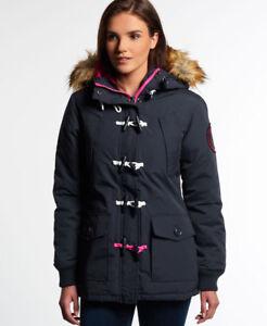 Navy New Duffle Superdry Womens Everest Coat qX1P6WwX