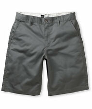 NWOT RVCA SHORTS SIZE 32 AMERICANA CHINO GRAY CITY STYLE SKATE 22'' SURF RELAXED