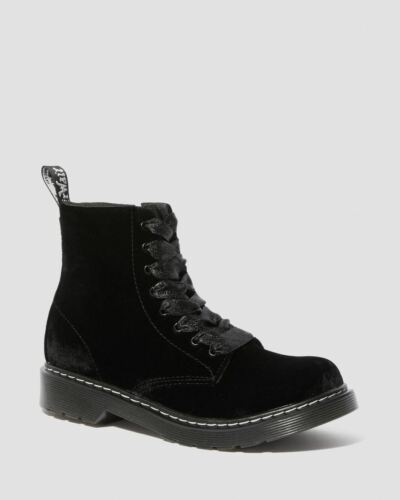 Dr Martens 1460Y Pascal Black Velvet 8 Eyelet Boot