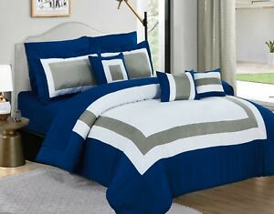 10-Piece-Comforter-amp-Sheets-Set-in-one-bag-Fitted-Pillow-case-amp-sham-decor-cushion