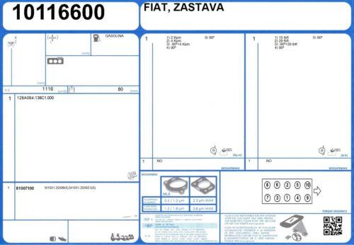 Full Engine Rebuild Gasket Set ZASTAVA YUGO 311 1.1 55 128A064 1986-//1990