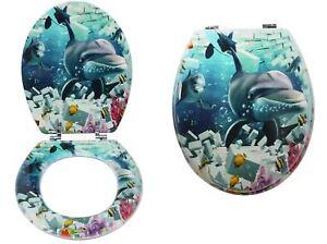 18 Softclose Bathroom Universal Toilet Seat Sea Creature