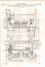 1898 Detailed Drawings Of Pumping Machinery Glasgow Graving Dock