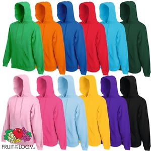 fruit of the loom hooded sweatshirt jumper hoodie pullover hoody plain men offer ebay. Black Bedroom Furniture Sets. Home Design Ideas