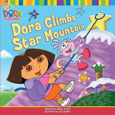 """""""AS NEW"""" Dora Climbs Star Mountain (Dora the Explorer), Nickelodeon, Book"""