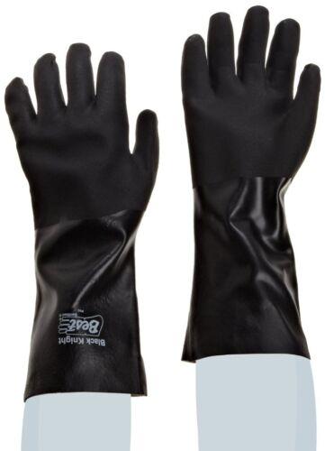 "12 new Showa Best 7712R-10 Black Knight Sanitized PVC Coated 12/"" Gauntlet Gloves"