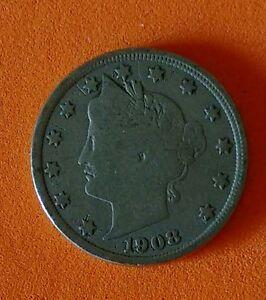 1908-LIBERTY-NICKEL-Nice-Collector-Coin