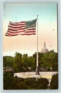 Washington-DC-Capitol-Building-Flag-DC-Vintage-Postcard-Z63