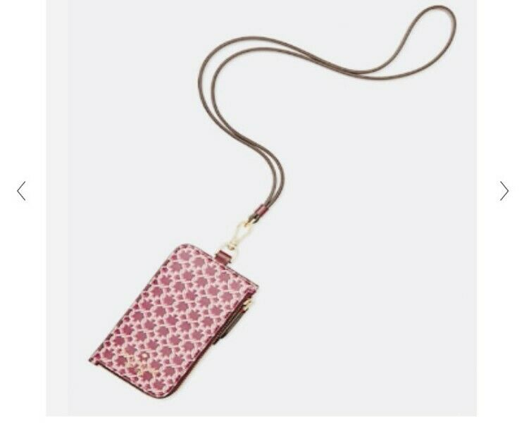Kate Spade Link Lanyard ID Badge Card Holder Pink Multi color - BNWT