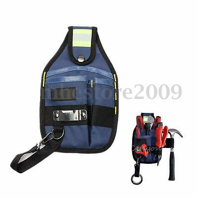 New Professional 3-Pocket Electrician Tool Belt Toolbelt Pouch Bag w/tape Buckle