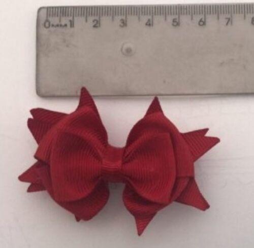 """300 BLESSING Good Girl Boutique 2.5/"""" Snowflake Hair Bow Clip FROZEN 192 No."""