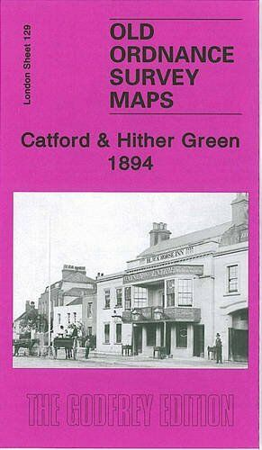 OLD ORDNANCE SURVEY MAP CATFORD & HITHER GREEN 1894