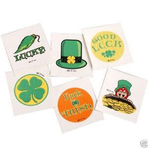 12 St Saint Patricks Day Irish Temporary Tattoos Party Goody Bag Favor Supply