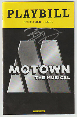 "Autographs-original The Musical"" Playbill Autograph W/ Coa Auto Beautiful And Charming Entertainment Memorabilia Brandon Victor Dixon Signed ""motown"