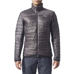 Details zu adidas Mens Terrex Quilted Climaheat Padded Jacket Warm Lightweight Coat Grey