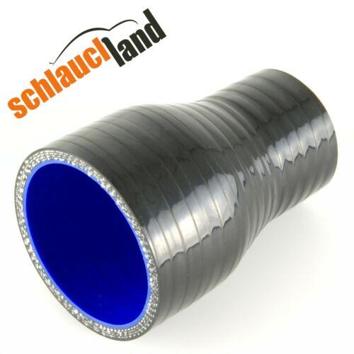 RIDUTTORE ID 60-48mm NERO *** Silicone Tubo Radiatore Tubo reduzierer