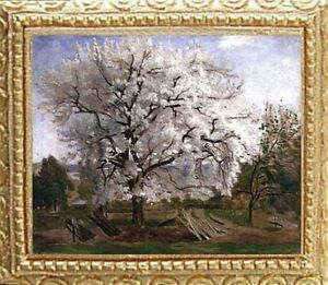 APPLE BLOSSOMS FRAMED Dollhouse Picture - Framed Miniature Art -MADE IN AMERICA