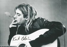 "NIRVANA AUFKLEBER / STICKER # 9 ""KURT COBAIN SMOKING"" - 7x5cm"